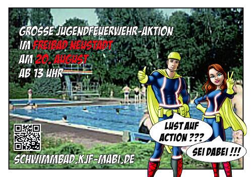 Grosse schwimmbad aktion der jugendfeuerwehr for Stadtallendorf schwimmbad